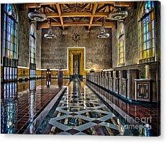 Union Station Interior- Los Angeles Acrylic Print by David Doucot