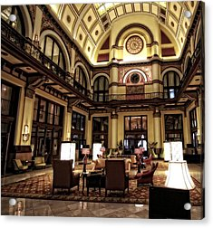 Union Station Interior Nashville Tennessee Acrylic Print by Dan Sproul