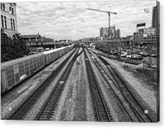 Union Station Railroad Tracks Acrylic Print by Dan Sproul
