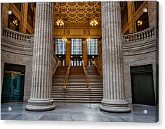 Union Station Stairs Acrylic Print by Mike Burgquist