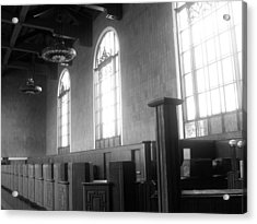 Union Station Ticketing Room Acrylic Print by Karyn Robinson