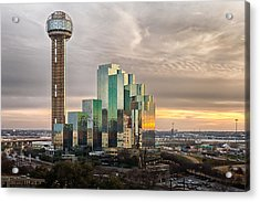 Union Tower Sunset Acrylic Print