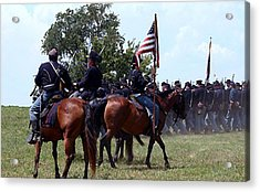 Union Troops Marching To Battle - Richmond Ky Acrylic Print by Thia Stover