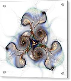 Unison Fractal Art Acrylic Print by Karin Kuhlmann
