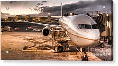 United Airlines Jet Ready For Departure Acrylic Print