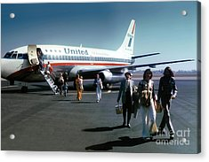 United Airlines Ual Boeing 737-222 N9069u April 1974 Acrylic Print by Wernher Krutein