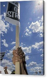 Acrylic Print featuring the photograph United Auto Workers Strike by Jim West