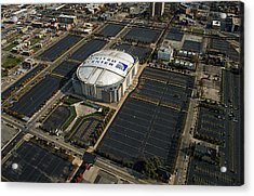 United Center Chicago Sports 10 Acrylic Print by Thomas Woolworth
