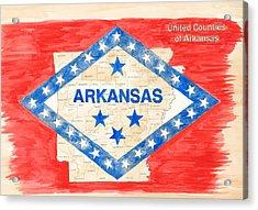 United Counties Of Arkansas Acrylic Print by Egil Viesturson