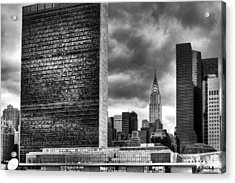 United Nations And Chrysler Building Acrylic Print