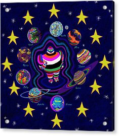 United Planets Of Eurotrazz Acrylic Print by Robert SORENSEN