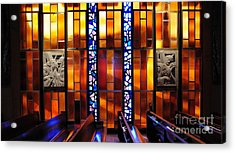 United States Air Force Academy Cadet Chapel Detail Acrylic Print by Vivian Christopher