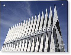 United States Airforce Academy Chapel Colorado Acrylic Print by Bob Christopher
