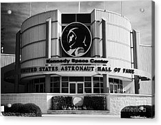 united states astronaut hall of fame Kennedy Space Center Florida USA Acrylic Print by Joe Fox