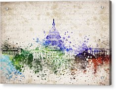 United States Capitol Acrylic Print by Aged Pixel