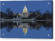 United States Capitol Building Acrylic Print by Susan Candelario