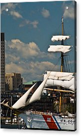 Acrylic Print featuring the photograph United States Coast Guard Cutter by Caroline Stella