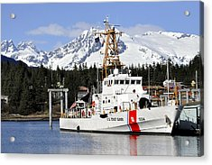 United States Coast Guard Cutter Liberty Acrylic Print by Cathy Mahnke