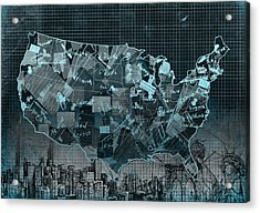 United States Map Collage 5 Acrylic Print