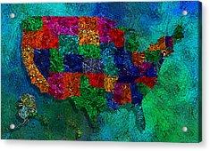 United States Map Acrylic Print by Jack Zulli