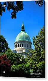 United States Naval Academy Chapel Acrylic Print by Olivier Le Queinec
