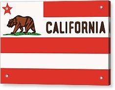 United States Of California Flag Acrylic Print by Jera Sky