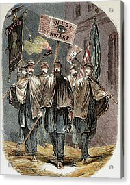 United States Supporters Of Abraham Acrylic Print by Prisma Archivo