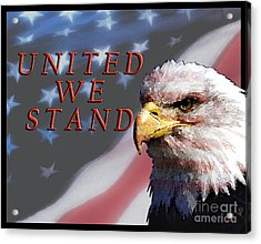 United We Stand Acrylic Print by Lawrence Costales