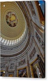 Unites States Capitol Rotunda Acrylic Print by Susan Candelario