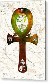 Unity 11 - Spiritual Artwork Acrylic Print by Sharon Cummings
