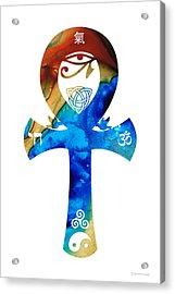 Unity 15 - Spiritual Artwork Acrylic Print by Sharon Cummings