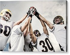 Unity Of American Football Players Acrylic Print by Skynesher