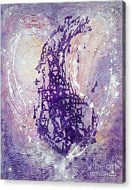 Universal Love Pastel Purple Lilac Abstract By Chakramoon Acrylic Print by Belinda Capol