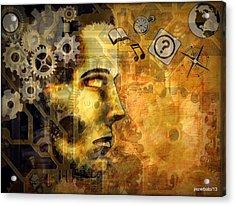 Universal Mechanics Acrylic Print by Paulo Zerbato