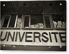 Universite Acrylic Print by Marta Grabska-Press
