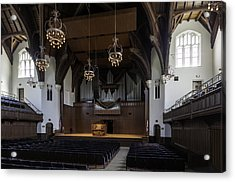 University Auditorium And The Anderson Memorial Organ Acrylic Print by Lynn Palmer