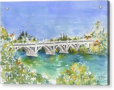 University Bridge Acrylic Print