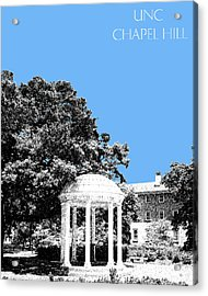 University North Carolina Chapel Hill - Light Blue Acrylic Print