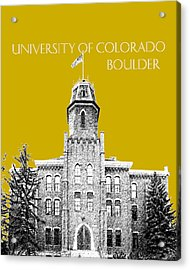 University Of Colorado Boulder - Gold Acrylic Print by DB Artist