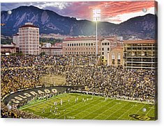 University Of Colorado Boulder Go Buffs Acrylic Print