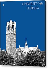 University Of Florida - Royal Blue Acrylic Print by DB Artist