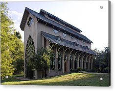 Acrylic Print featuring the photograph University Of Florida Chapel On Lake Alice by Lynn Palmer