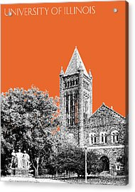 University Of Illinois 2 - Altgeld Hall - Coral Acrylic Print by DB Artist