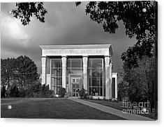 University Of Illinois Kinkead Pavilion Acrylic Print by University Icons