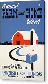 Acrylic Print featuring the painting University Of Illnois Farm And Home Week by American Classic Art