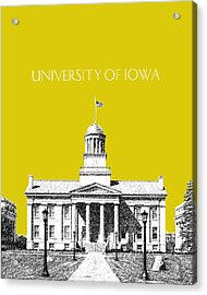University Of Iowa - Mustard Yellow Acrylic Print by DB Artist