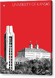University Of Kansas - Red Acrylic Print by DB Artist