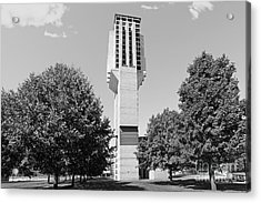 University Of Michigan Lurie Bell Tower Acrylic Print by University Icons