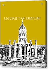 University Of Missouri - Gold Acrylic Print by DB Artist