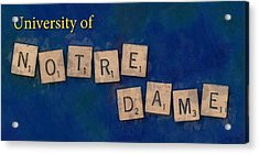 University Of Notre Dame Acrylic Print by Sandy MacGowan